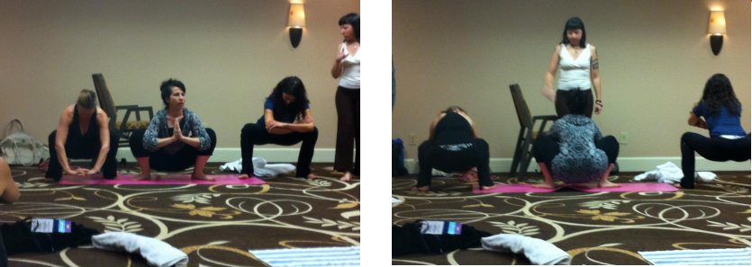 Teaching squats at the Lamaze Conference 2012